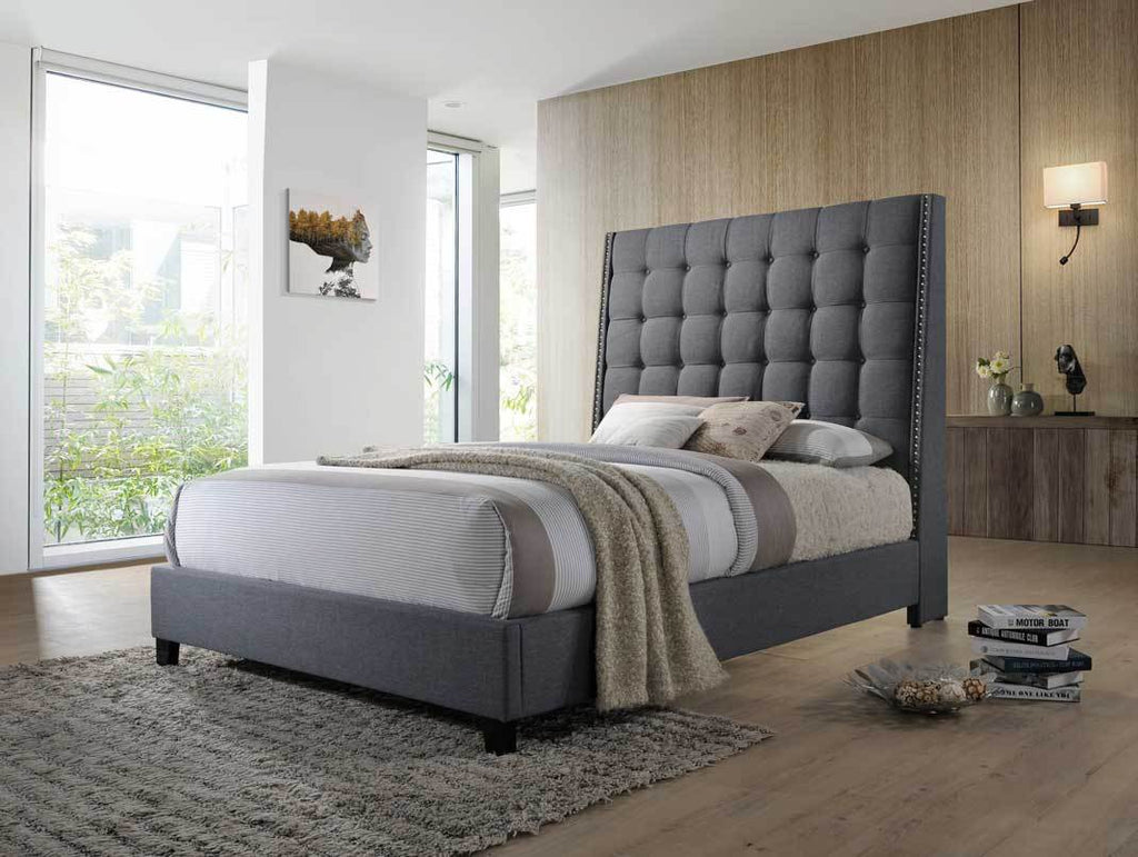 3Pc King Upholstered Bed