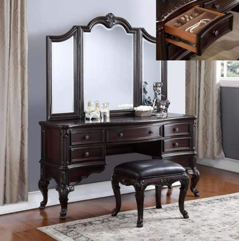 Vanity With Stool Set