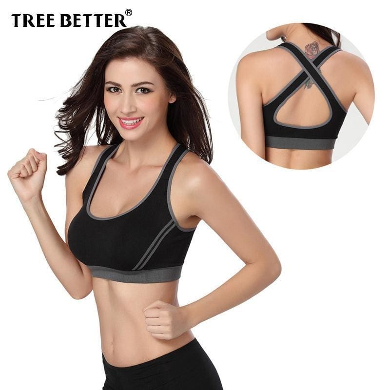 8bc840d310 Damping Sports Bra For Women Push Up Fitness Yoga Gym Underwear Sujetador  Brasieres Deportivos Soutien Gorge ...