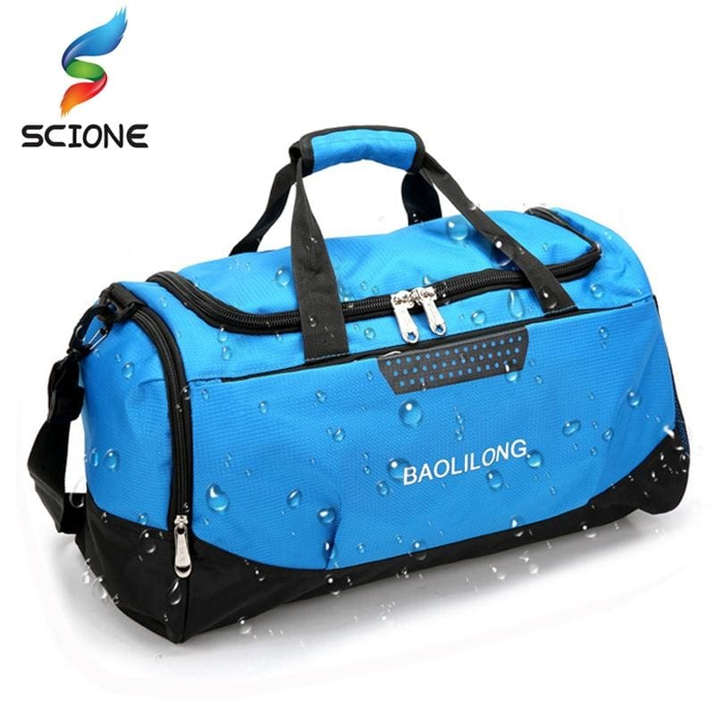 Professional Waterproof Large Sports Gym Bag With Shoes Pocket Men Women  Outdoor Fitness Training Duffle Bag Travel Yoga Handbag a6678bad01e45