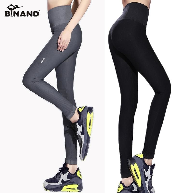 Women Quick Dry Fitness Yoga Workout Sports Wear Slim Body Gym Running  Jogging Ankle Length Tights Women Sports Pants 6 Colors 49a8162be4