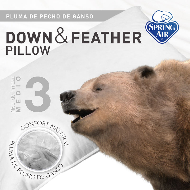 Almohada Down & Feather - Firmeza Media