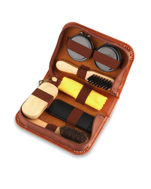 Men's Republic Shoe Shine Kit - 7 Pieces in Zipper Bag