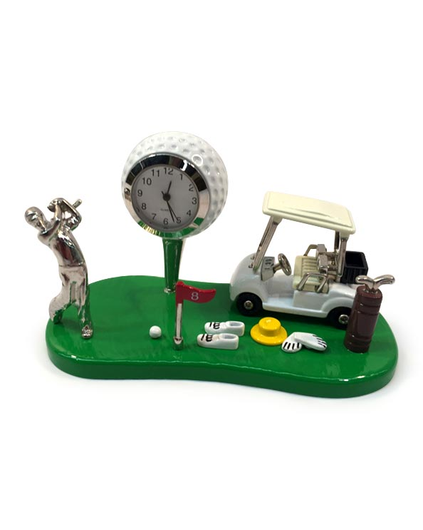 Men's Republic Desk Decor - Golf Theme with Clock