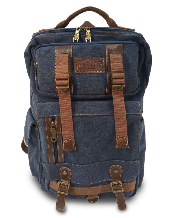 Men's Republic Square Backpack - Washed Canvas - Navy