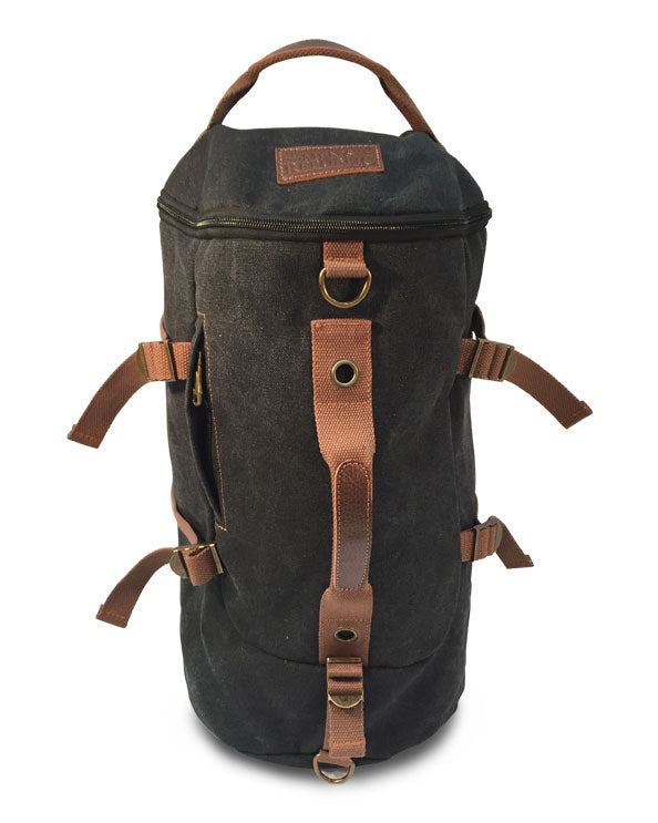 Men's Republic Backpack and Duffle Bag all-in-1 - Washed Canvas - Charcoal