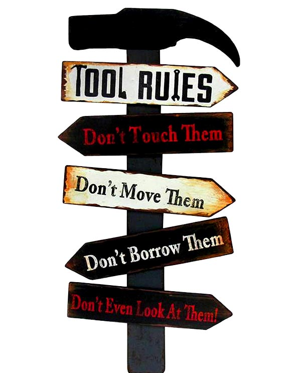 Men's Republic Retro Metal Sign - Tool Rules
