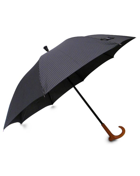 Men's Republic - Pin Stipe Umbrella - 1.5m Black