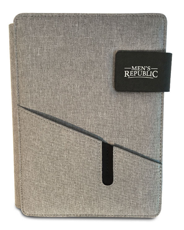 Men's Republic Hands-free A5 Portfolio Grey