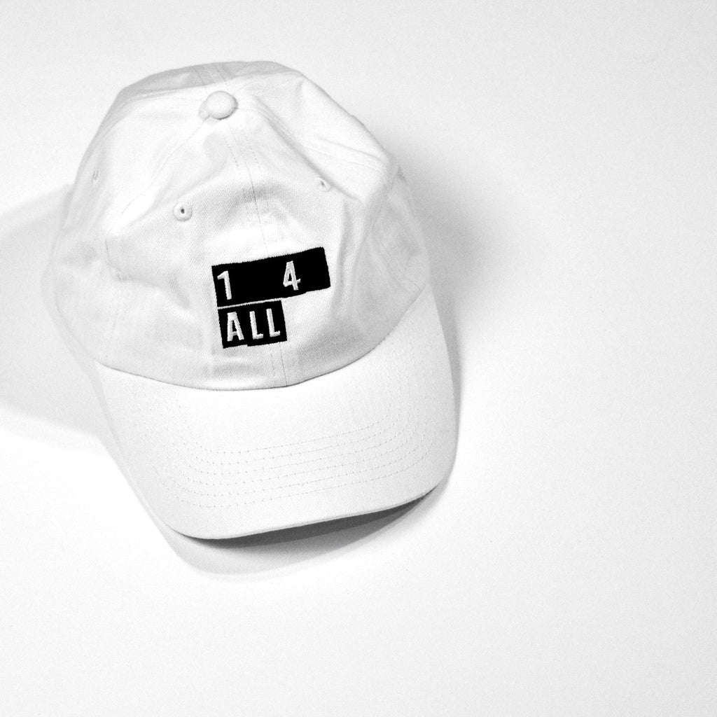 World Team. 'ONE 4 ALL' Logo dad cap.