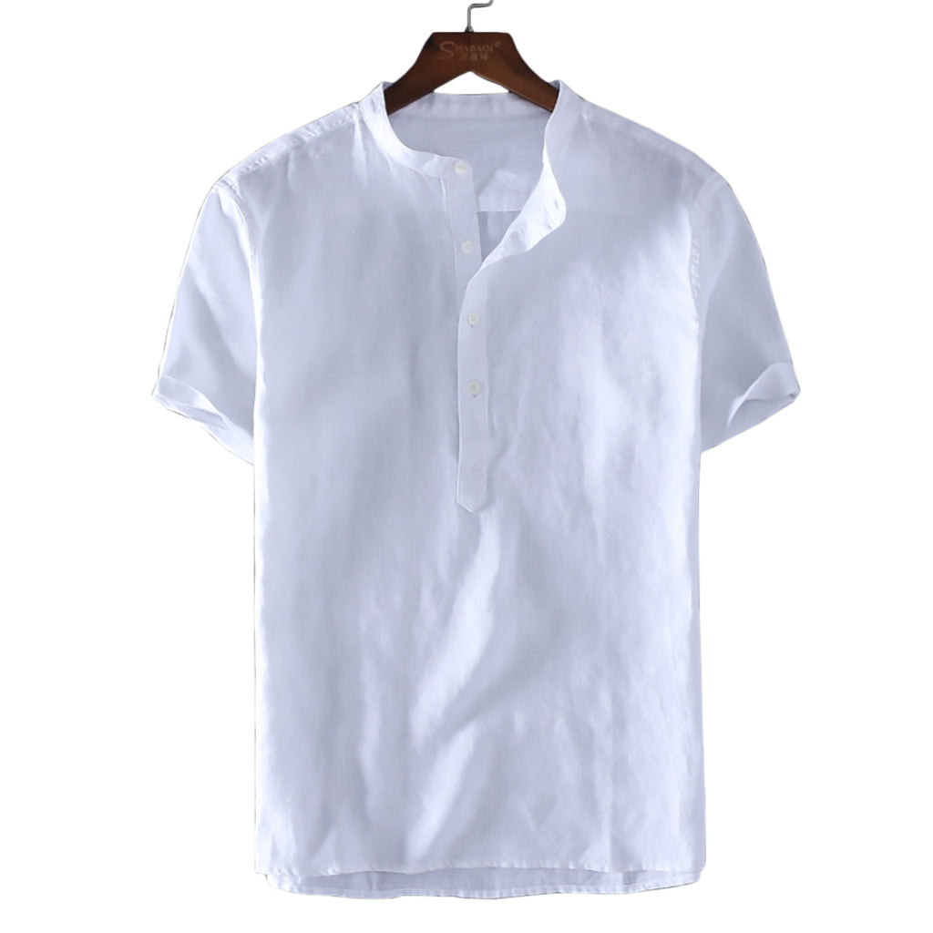 O-Neck Short-Sleeved Henley
