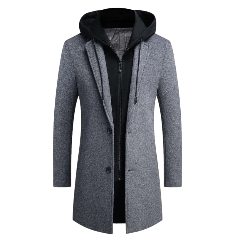 Mid-Length Woolen Coat