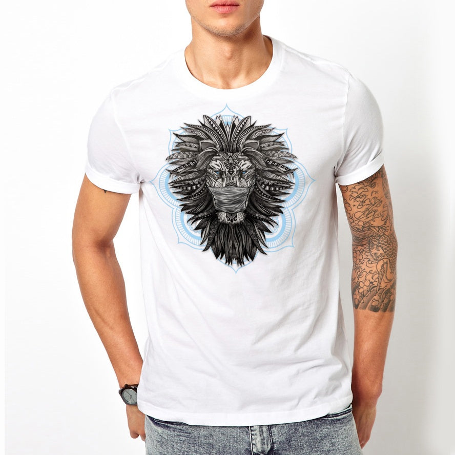 Masked Tribal Lion T-Shirt