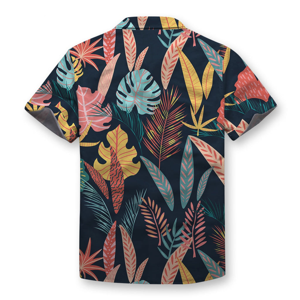 Tropical Garden Pattern Button Shirt