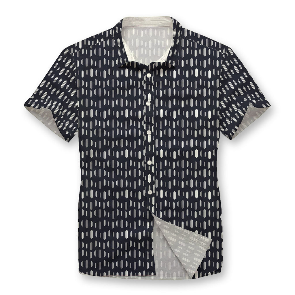 Bird Traces Pattern Button Shirt