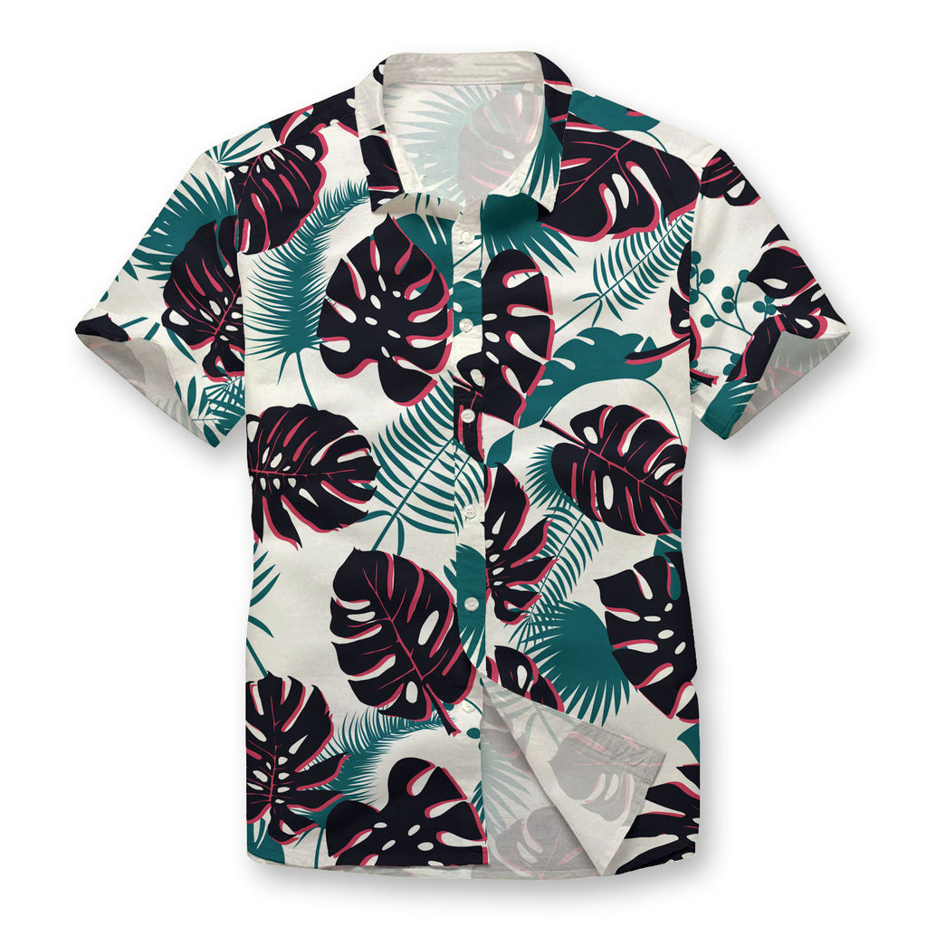 Monstera Pattern Button Shirt