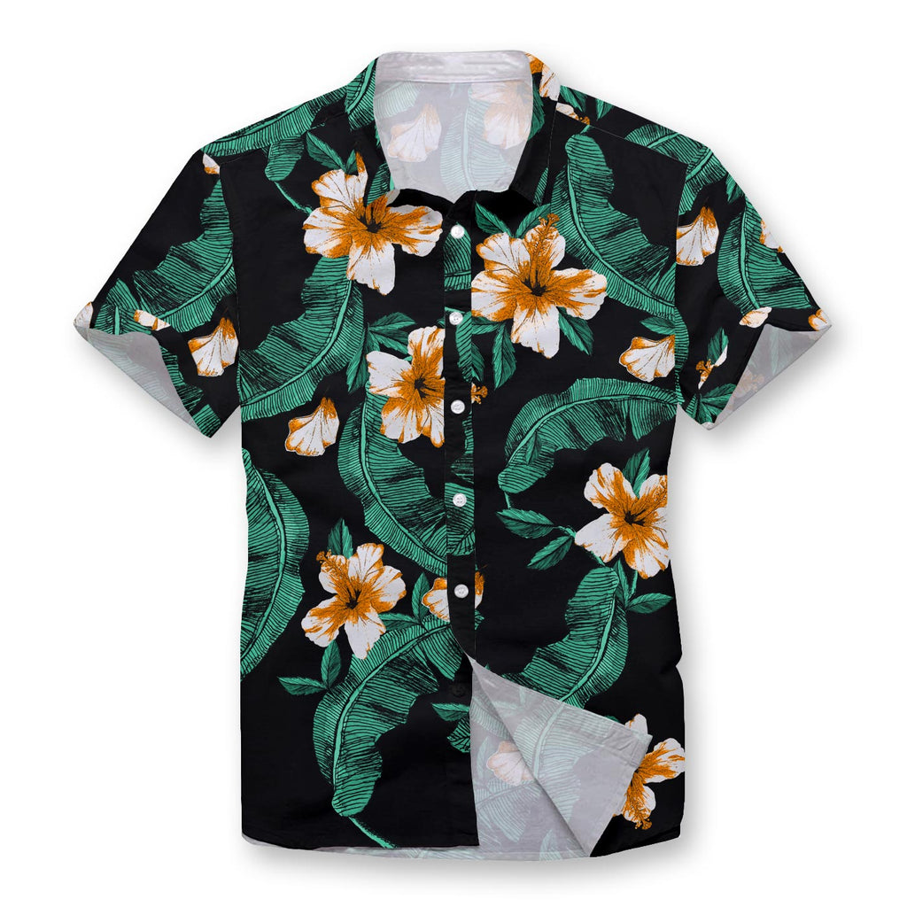 Vivid Hibiscus Button Shirt