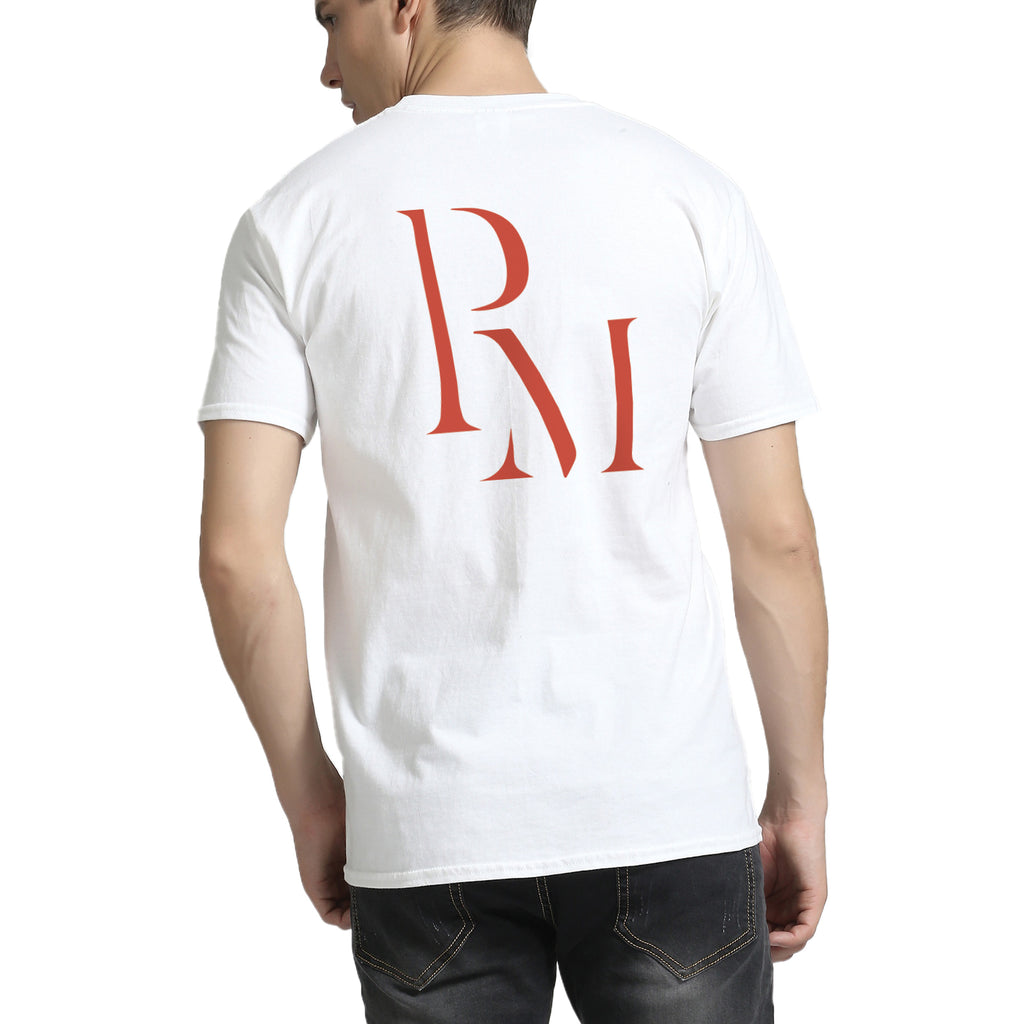 Polomano Basic Logo In Red V-Neck T-Shirt