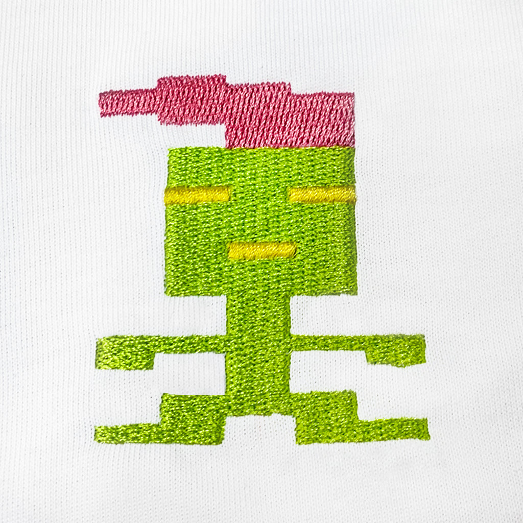 Pinky Alien Embroidered T-Shirt
