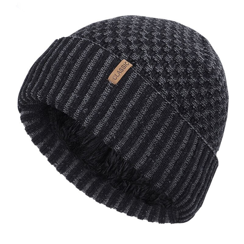 Stripped Cotton Beanie