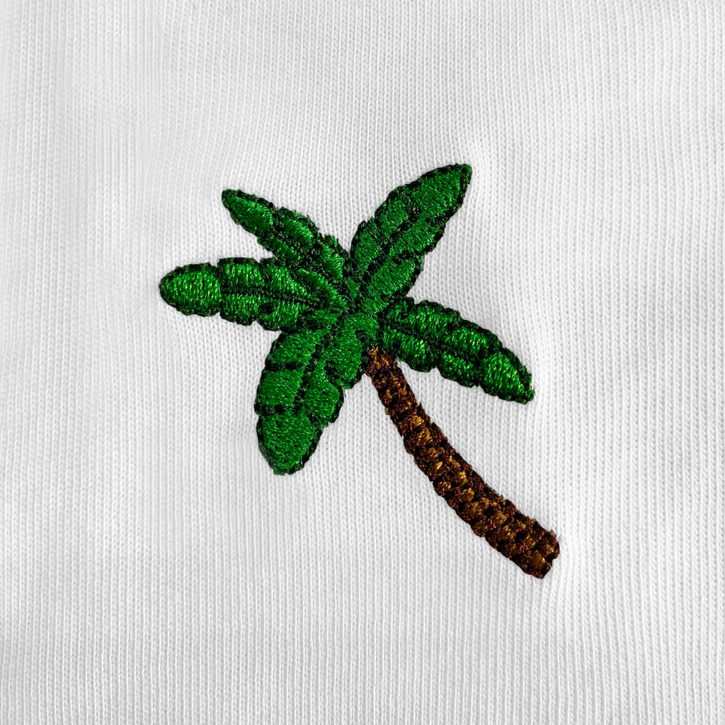 Palm Tree Embroidered T-Shirt
