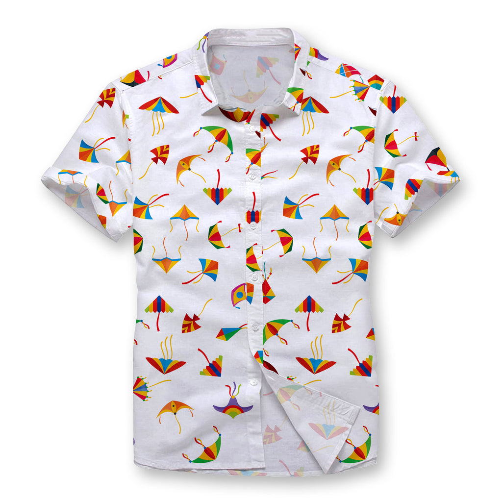 Kites Pattern Button Shirt