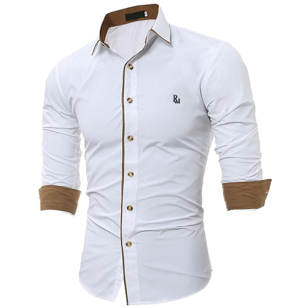Adriano Embroidered Slim Fit Shirt