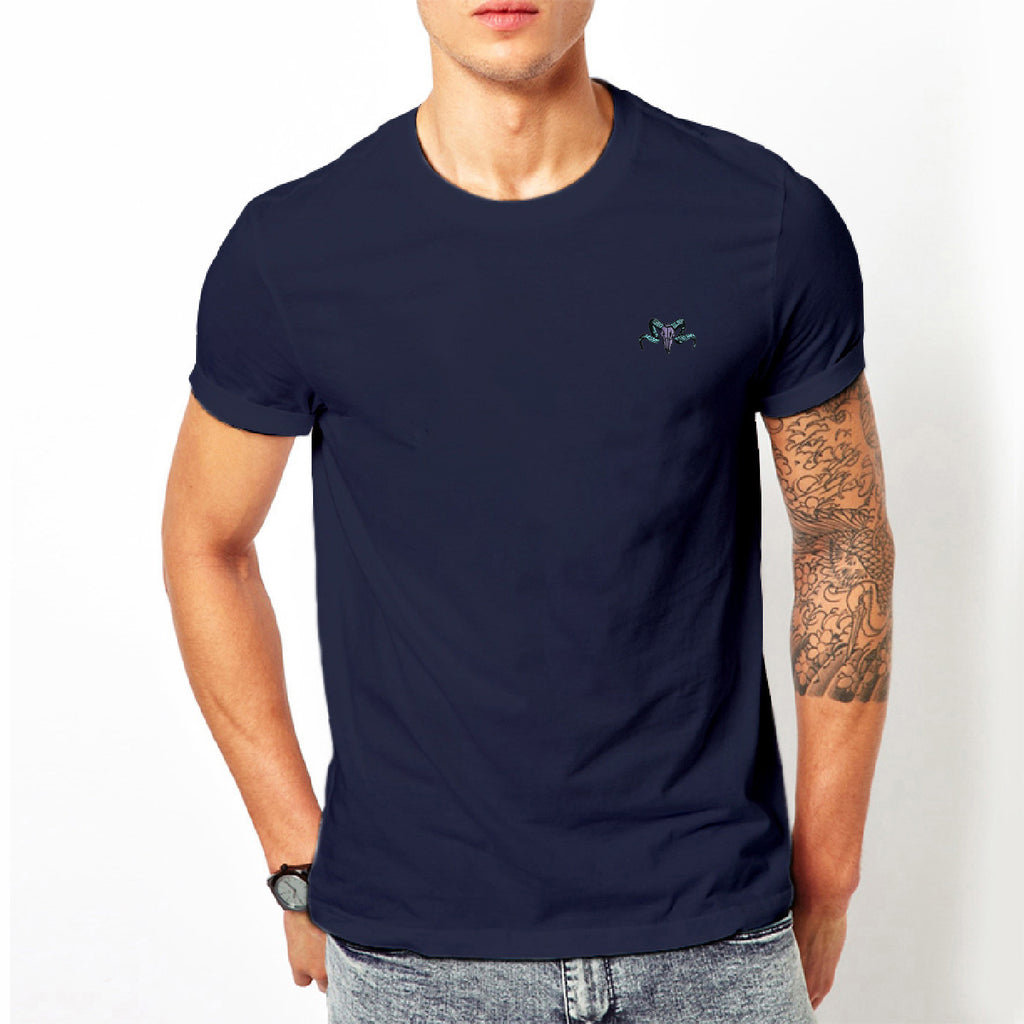 Animal Skull Embroidered T-Shirt