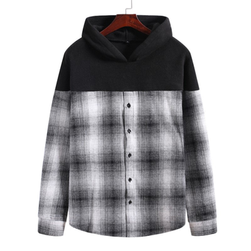 Long Sleeved Checkered Hoodie