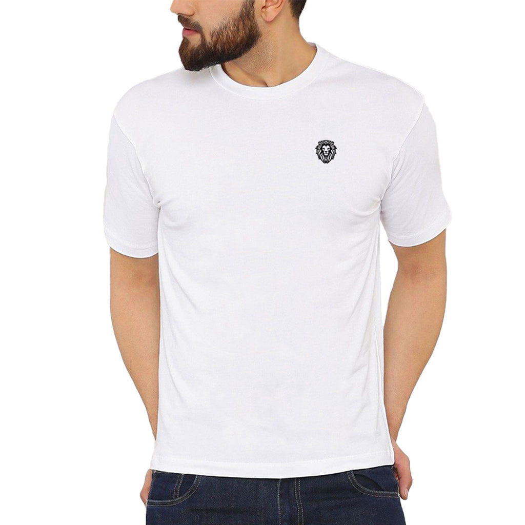 Lion Symbol Embroidered T-Shirt