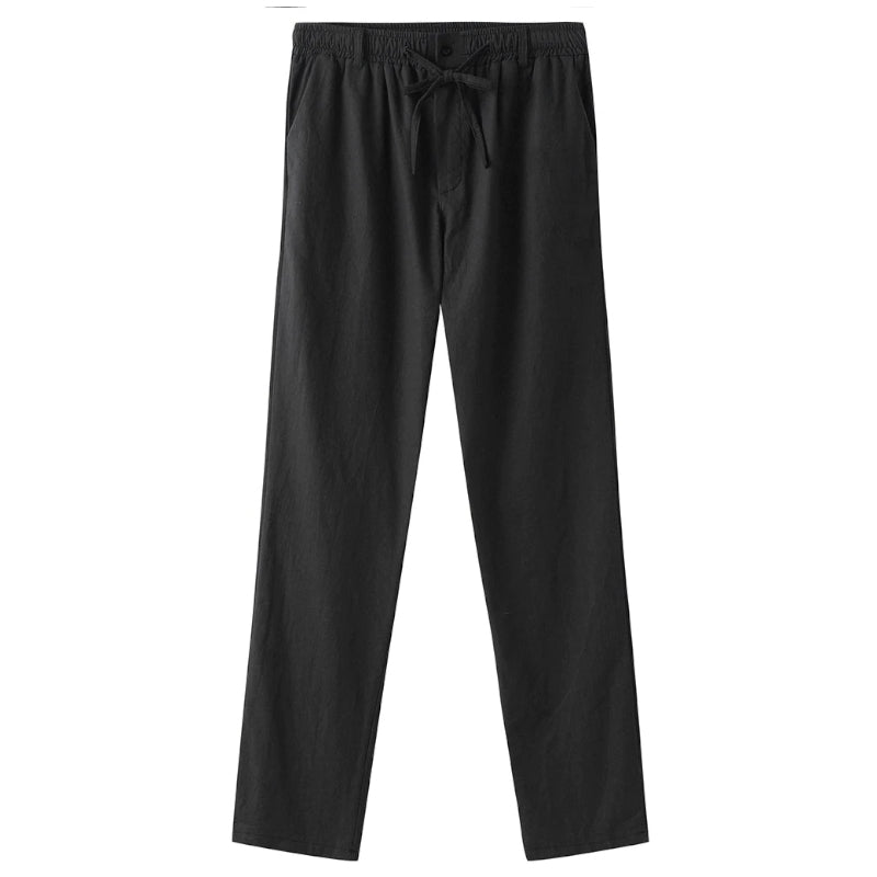 Elastic Straight Pants