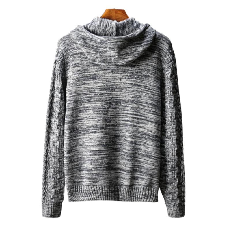 Cardigan Hooded Sweatshirt