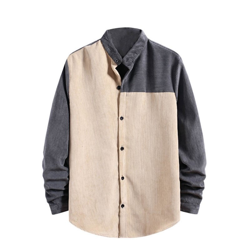 Fashion Corduroy Button Shirt
