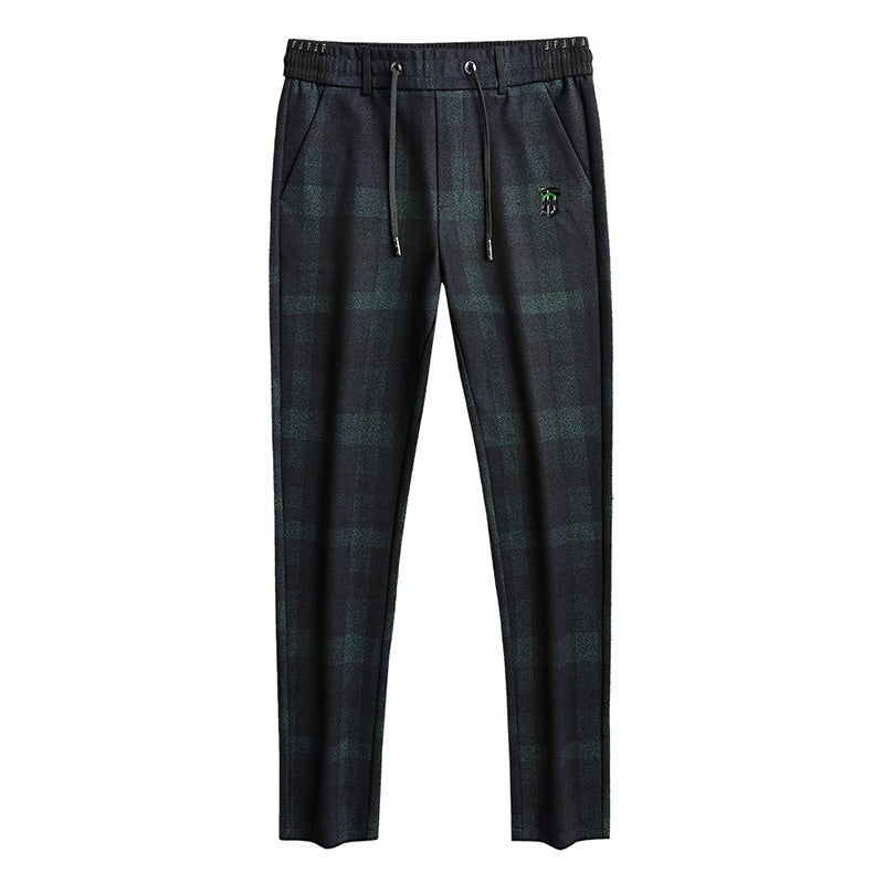 Plaid Patterned Straight Trousers