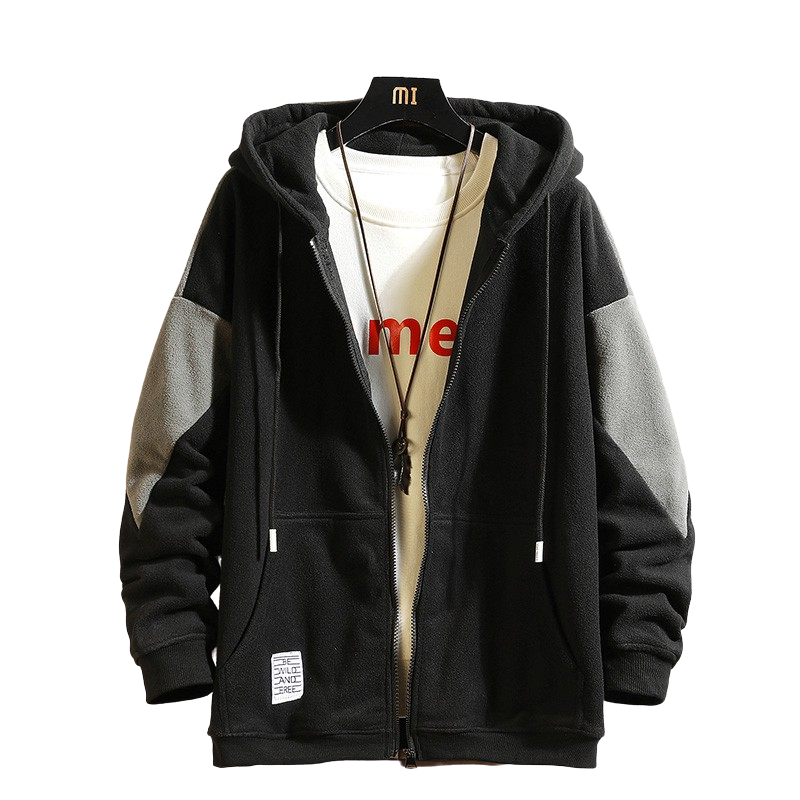 Casual Loose Zip Up Hoodie