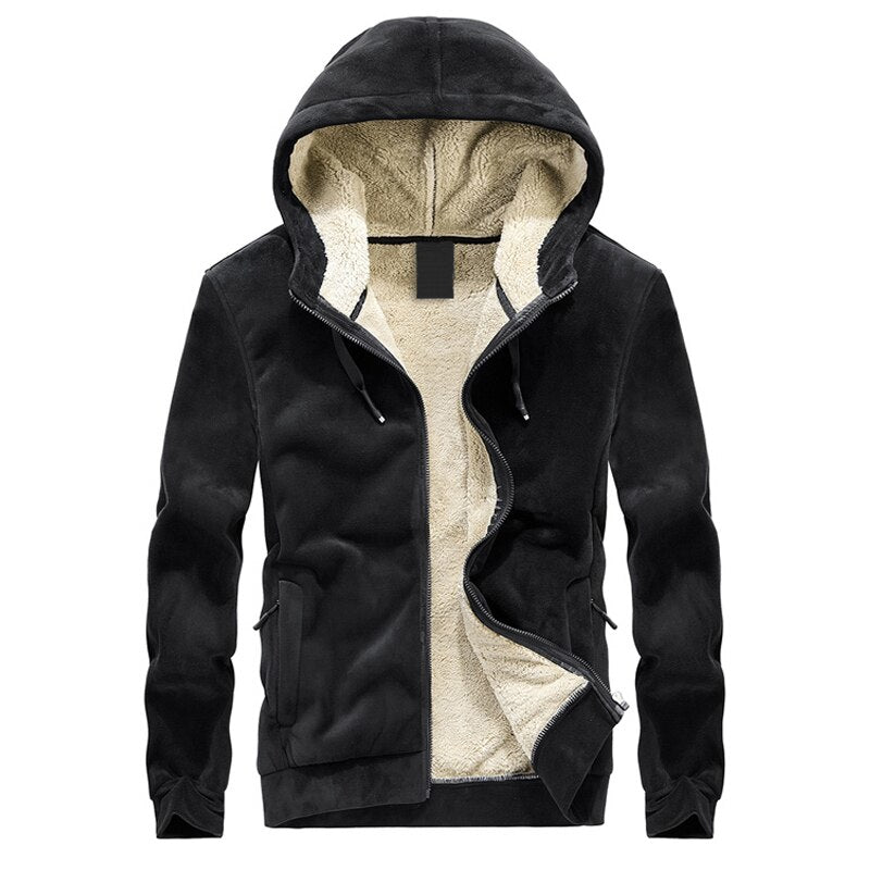 Outdoor Velvet Zip Up Hoodie
