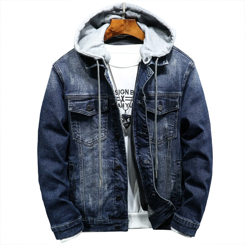 Cotton Hooded Denim Jacket