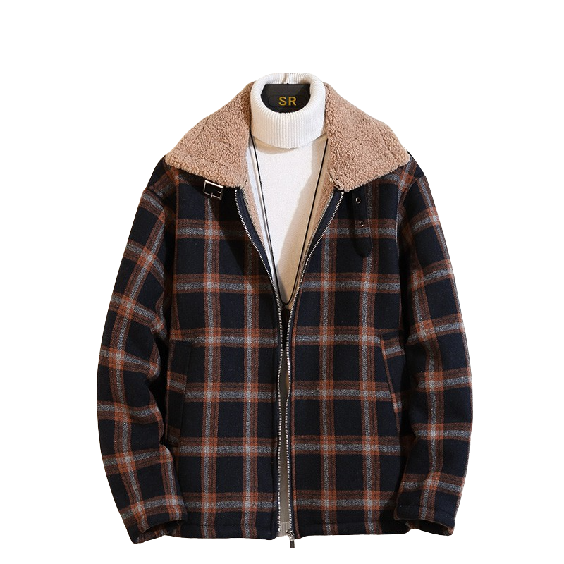 Checkered Wool Padded Jacket