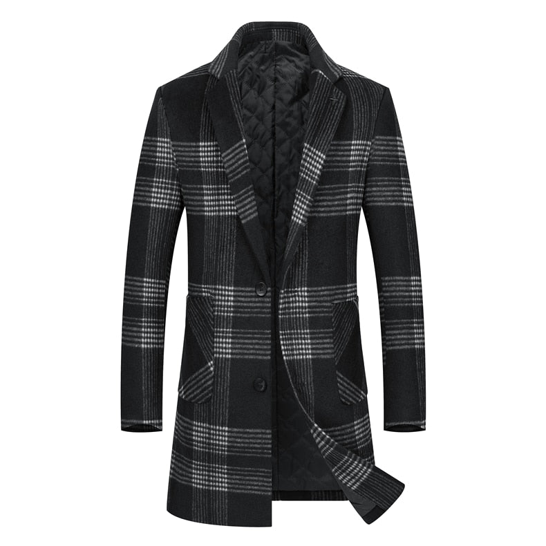 Long Plaid Coat