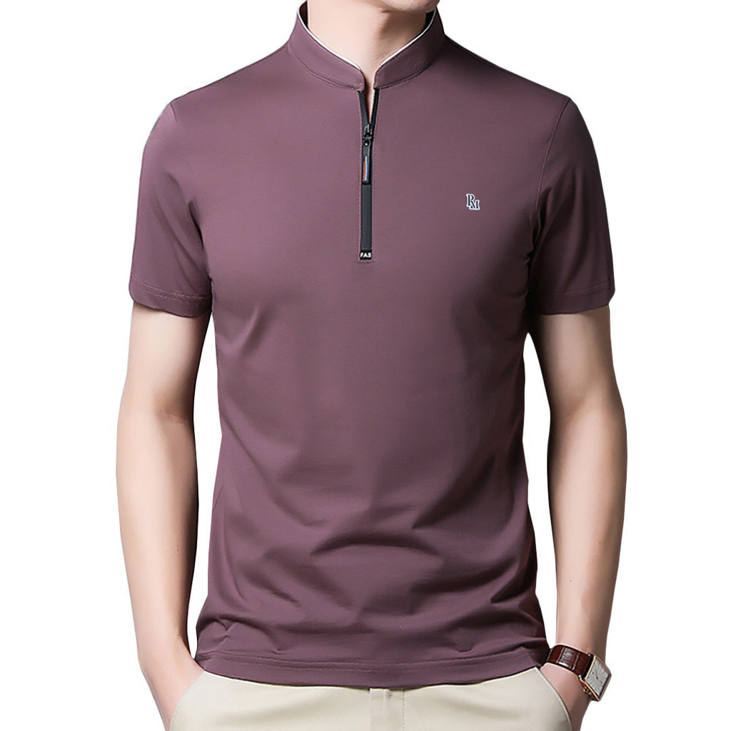 Polomano Logo Solid Collar Polo Shirt