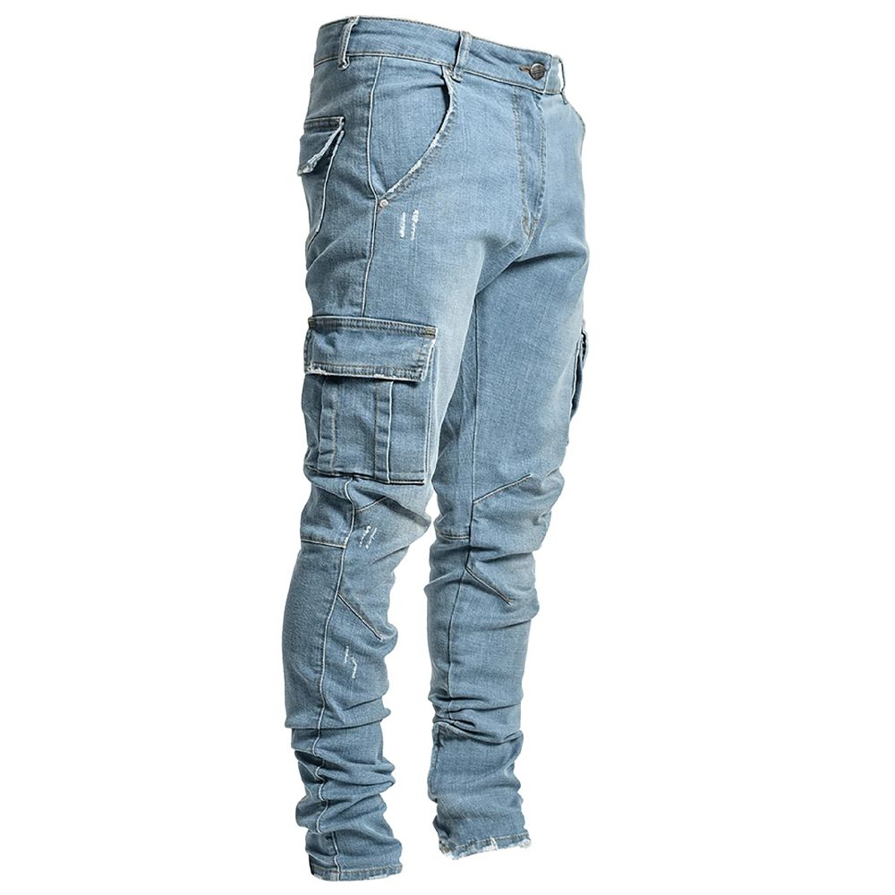 Skinny Pocket Pencil Jeans