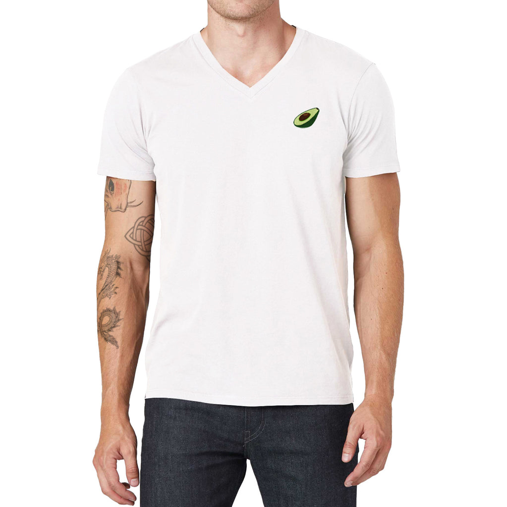 Avocado Embroidered V-Neck T-Shirt