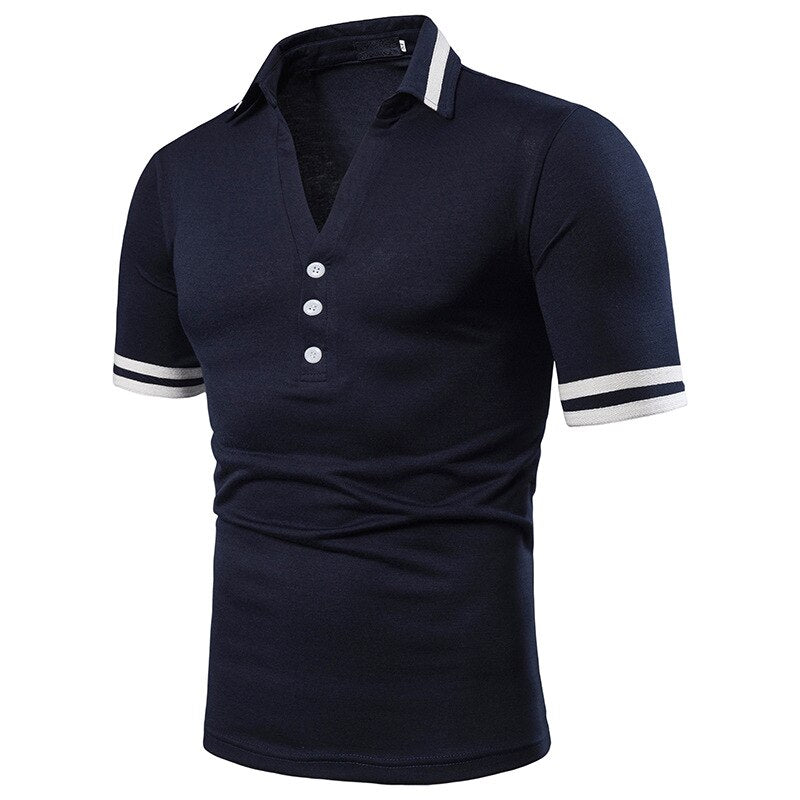 V-Neck Slim Fit Polo Shirt