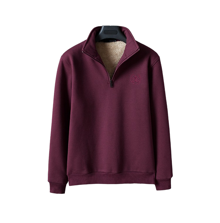 High Collar Zip Sweatshirt