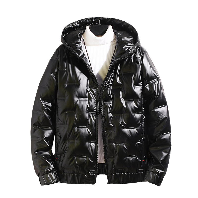 Metallic Puffer Coat