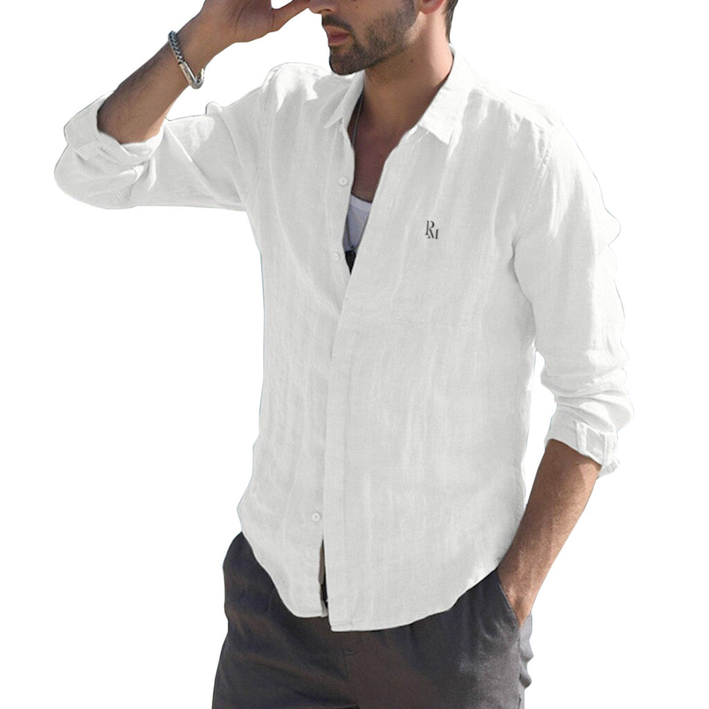 Polomano Embroidered Light Summer Button Down Shirt