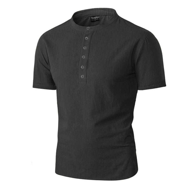 Buttoned Short Sleeve Polo Shirt