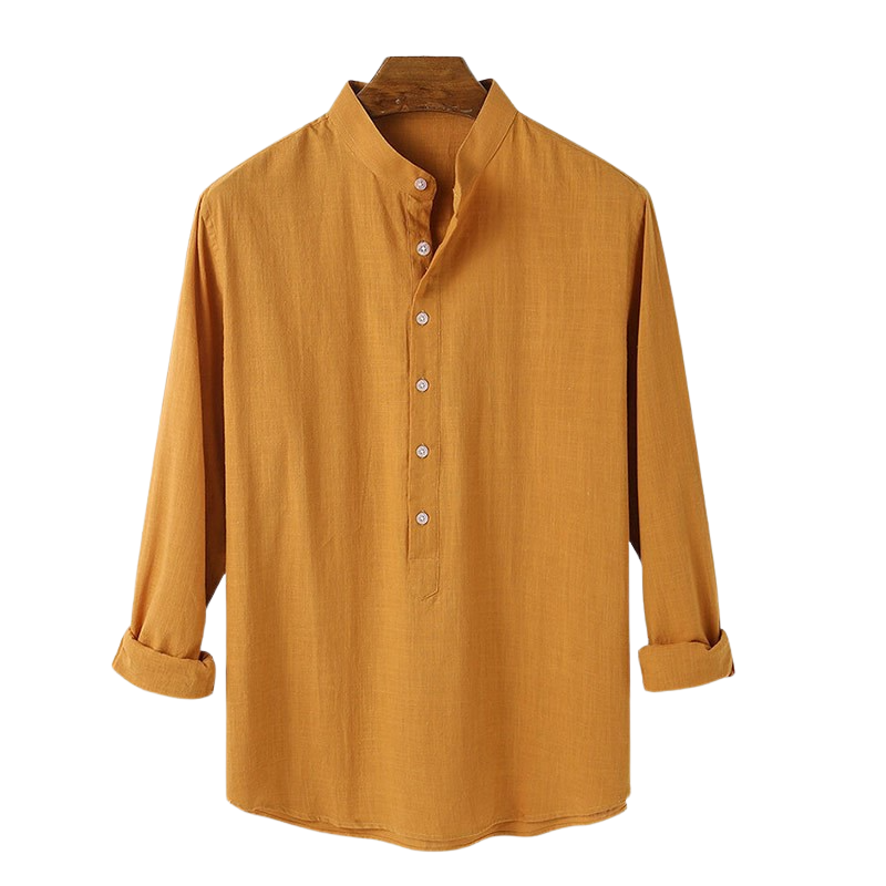 Casual Buttoned Linen Blend Shirt