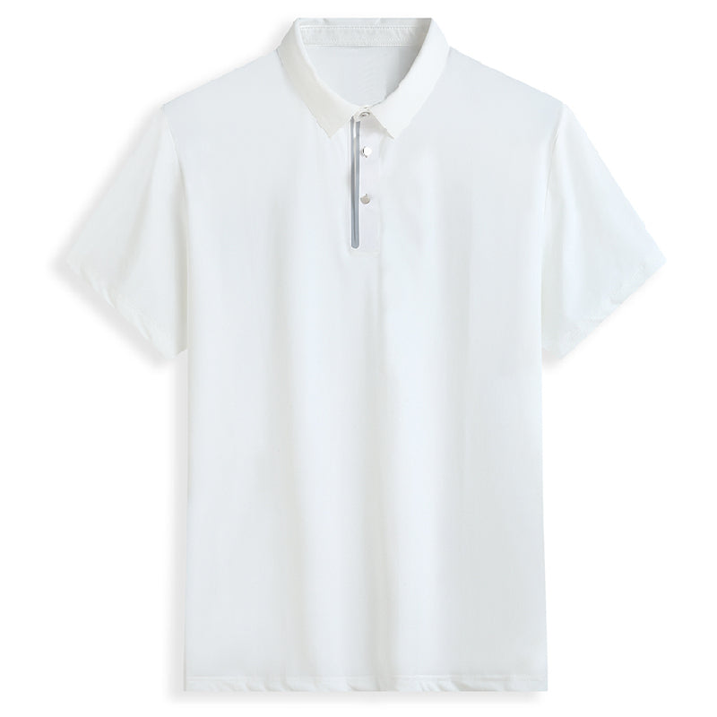 Elastic Buttoned Polo Shirt