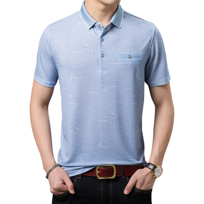 Solid Color Polo Shirt